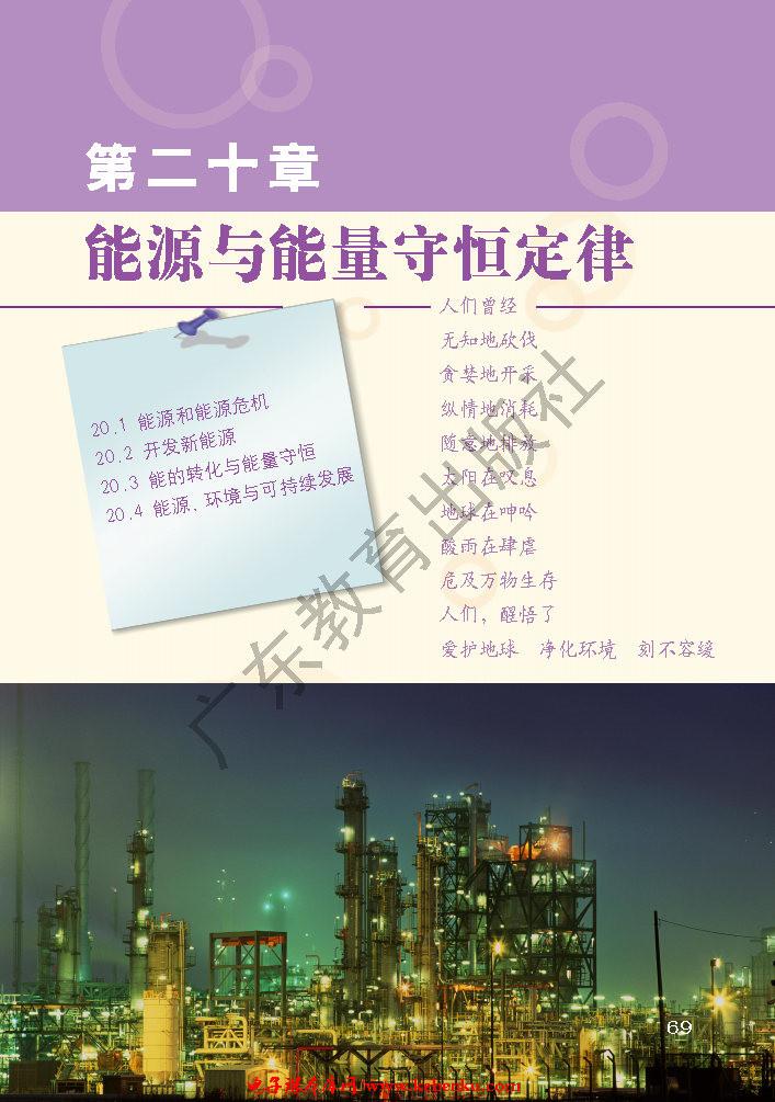第二十章 能源与能量守恒定律