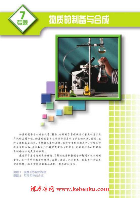 专题七 物质的制备与合成