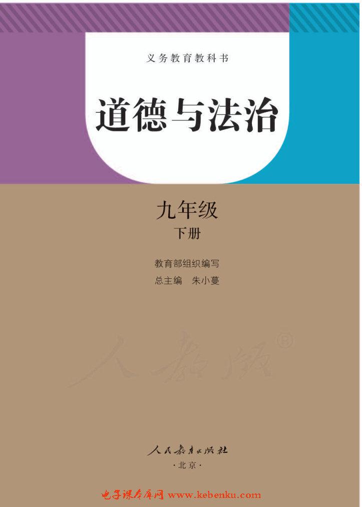 部編版九年級道德與法治下冊