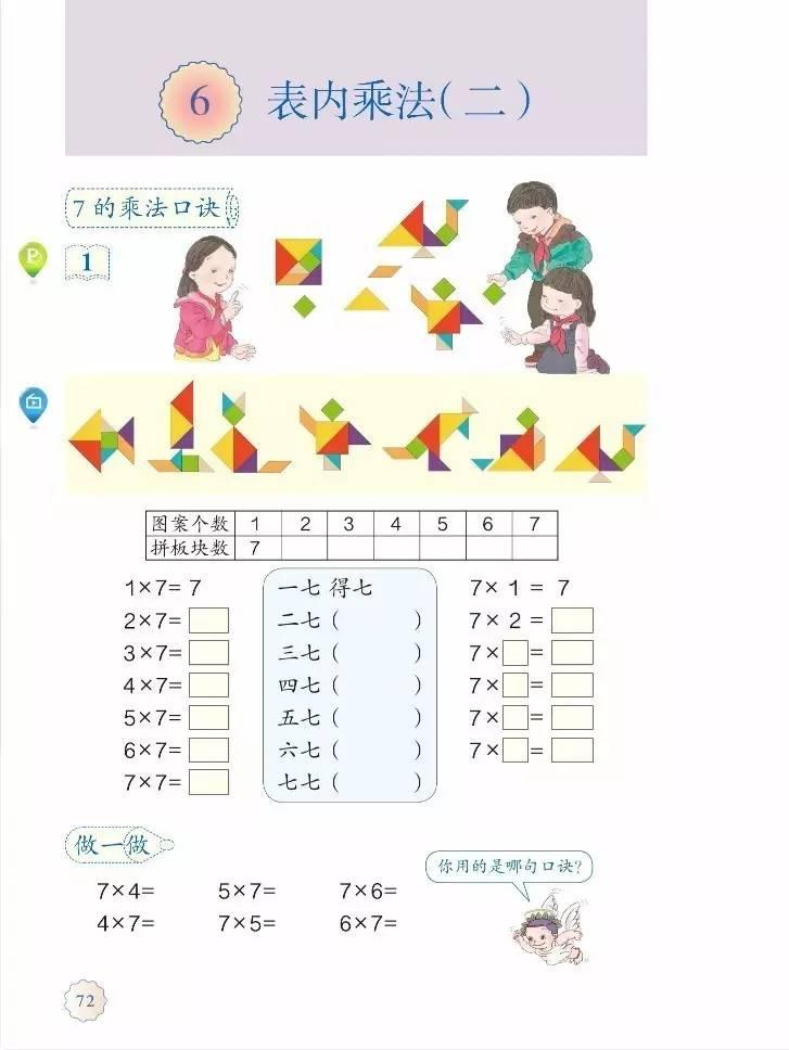 「6」.表内乘法(二)