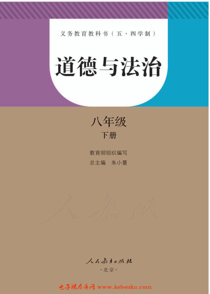 部編版八年級道德與法治下冊(五·四制)